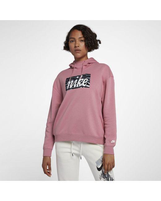 188aaa50b2d7 Nike Sportswear Animal Hoodie in Pink - Lyst