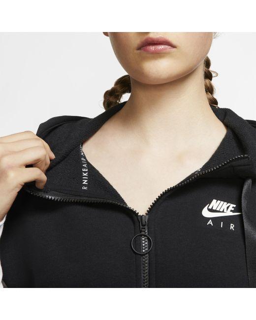 Sweatà capuche entièrement zippé Air pour Nike en coloris Black