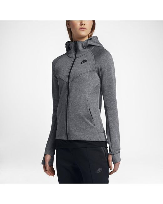 24090e4820fd Lyst - Nike Sportswear Tech Fleece Women s Full-zip Hoodie in Black
