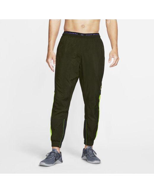 Nike Green Dri-fit Flex Sport Clash Training Pants for men