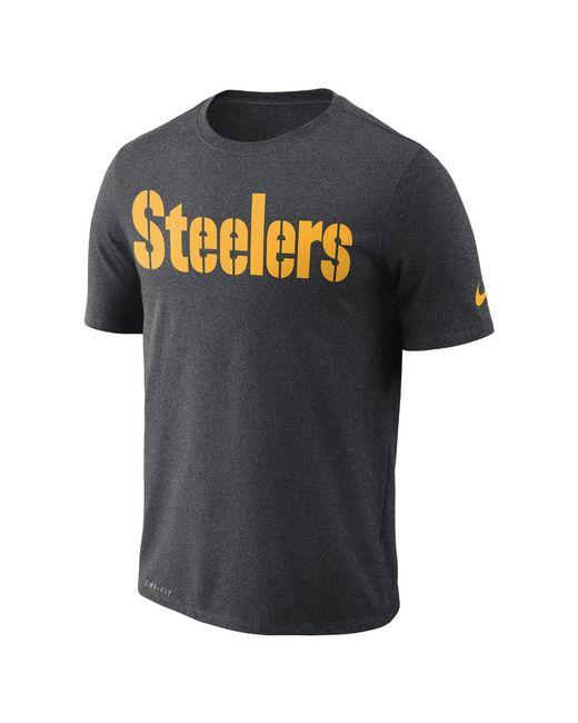 Nike - Gray Essential Wordmark (nfl Steelers) Men's T-shirt for Men - Lyst