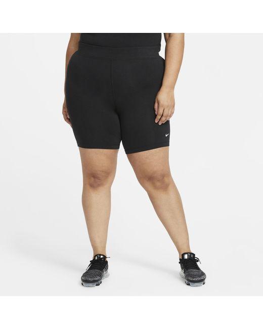 Nike Black Sportswear Essential Mid-rise Bike Shorts