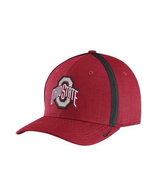 75c002165fe Nike - College Aerobill Sideline Coaches (ohio State) Adjustable Hat (red)  for