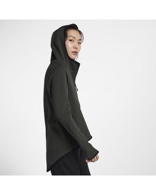 35bae632b80 Lyst - Nike Sportswear Tech Fleece Women s Full-zip Cape in Black