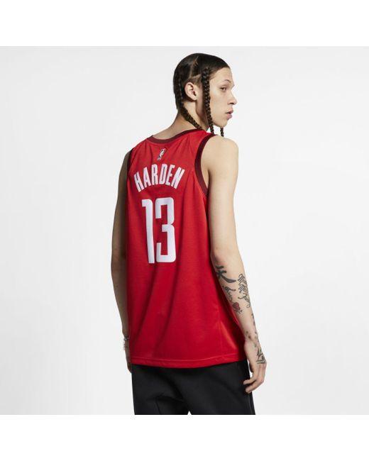 big sale 8a1e1 1b3d6 Men's Red James Harden Earned City Edition Swingman (houston Rockets) Nba  Connected Jersey