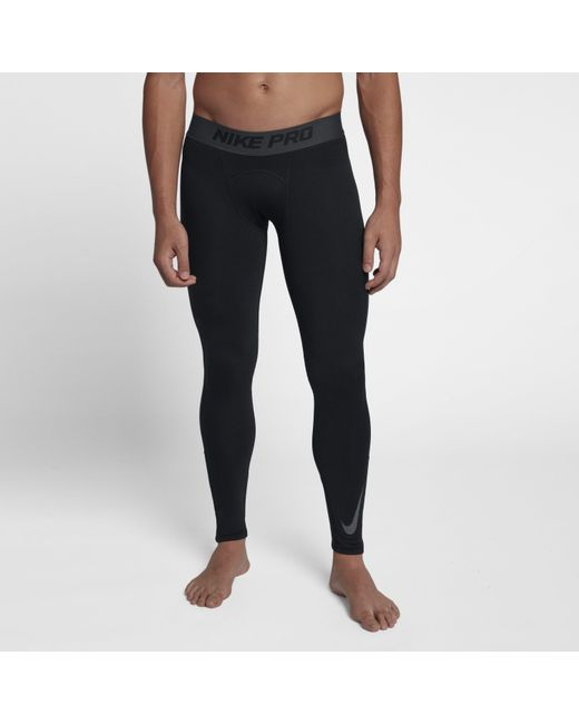 c0739a7af4de4 Nike - Black Pro Dri-fit Therma Tights for Men - Lyst ...