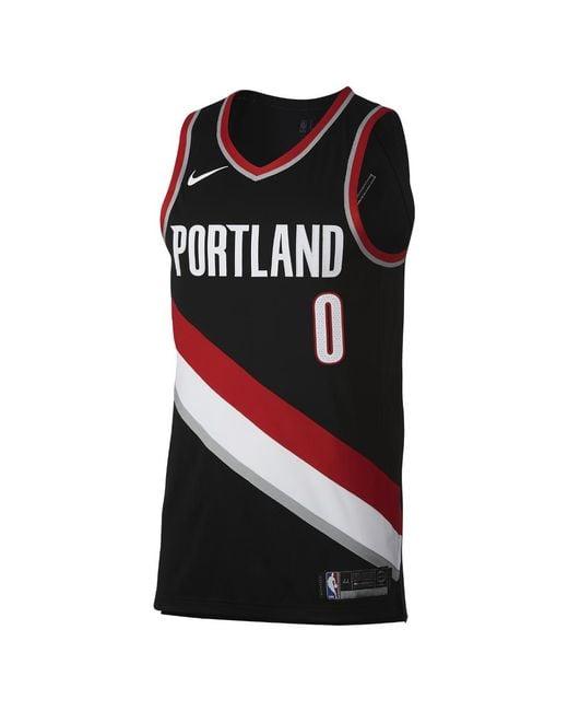Portland Trail Blazers Jersey Nike: Nike Damian Lillard Icon Edition Authentic Jersey