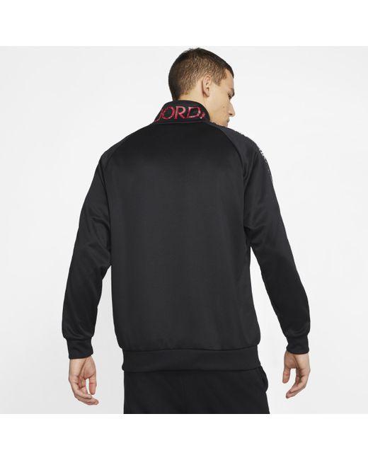 Giacca da riscaldamento in tricot Jordan Jumpman Classics di Nike in Black da Uomo