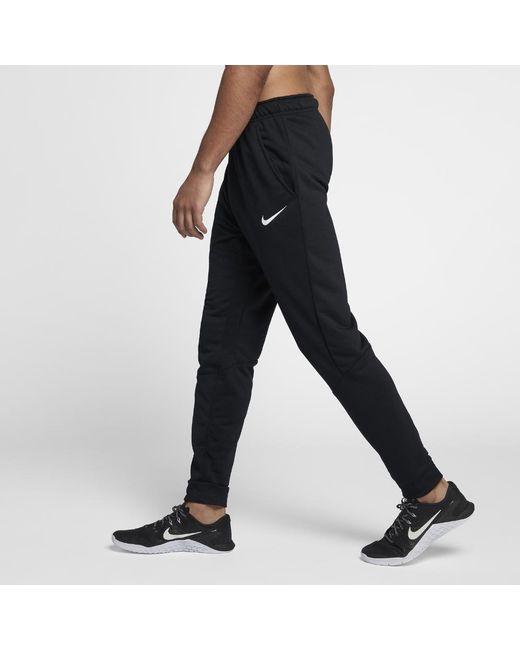 a9d0a9afc9cd Lyst - Nike Dri-fit Men s Fleece Training Pants in Black for Men
