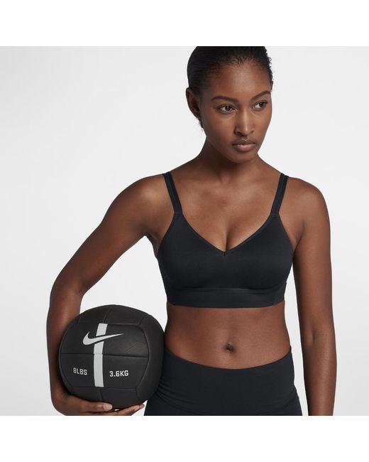 fb83fdeab2d84 Lyst - Nike Indy Breathe Women s Light Support Sports Bra in Black