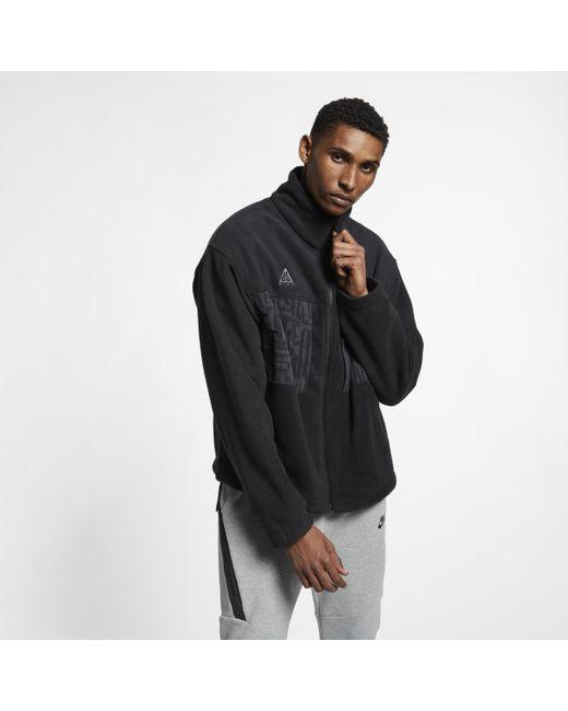 Nike Black ACG Fleece-Jacke