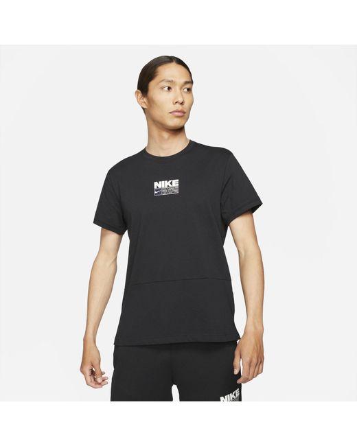 Nike Black Dri-fit Short-sleeve Graphic Training Top for men