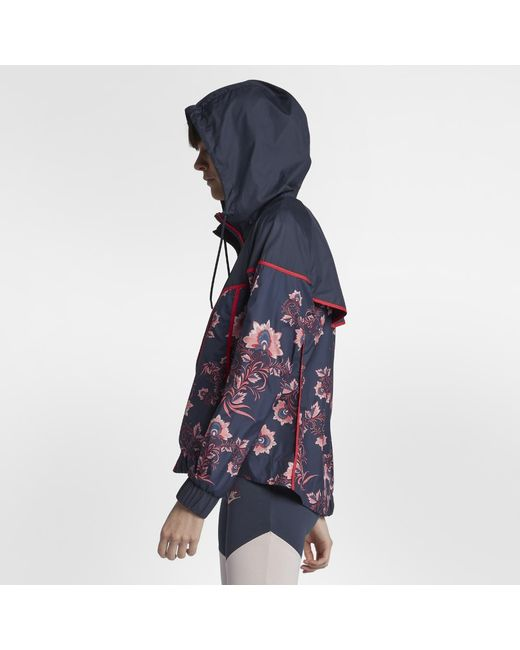 de07807b0624 Lyst - Nike Sportswear Windrunner Floral Women s Printed Jacket in Blue