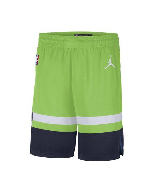 Shorts Timberwolves Statement Edition 2020 Swingman Jordan NBA di Nike in Green da Uomo