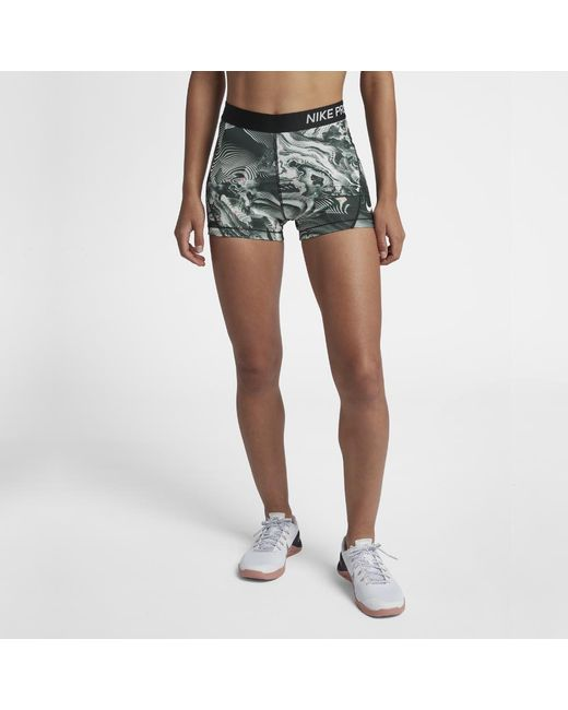 Pro 3 Nike Training In Women's White Shorts Lyst RvnxgOq