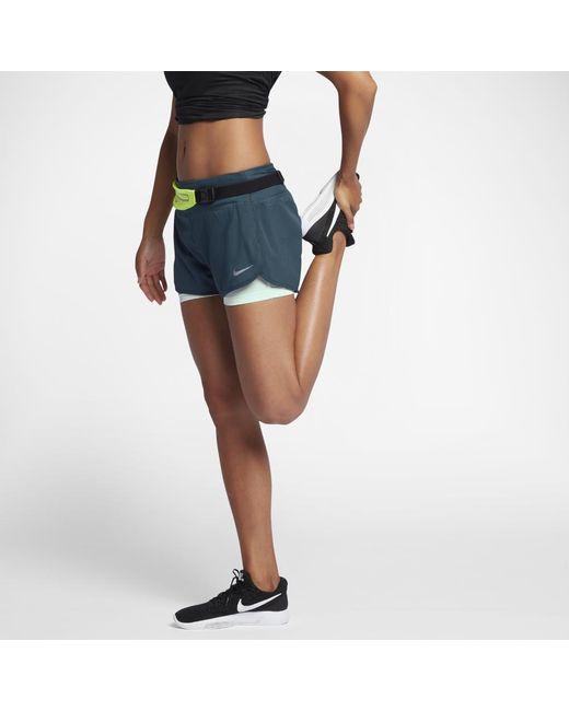 "Nike | Blue Flex 2-in-1 Women's 3"" Running Shorts | Lyst"