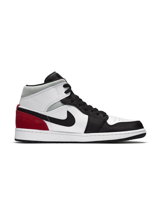 Scarpa Air Jordan 1 Mid SE di Nike in Black da Uomo