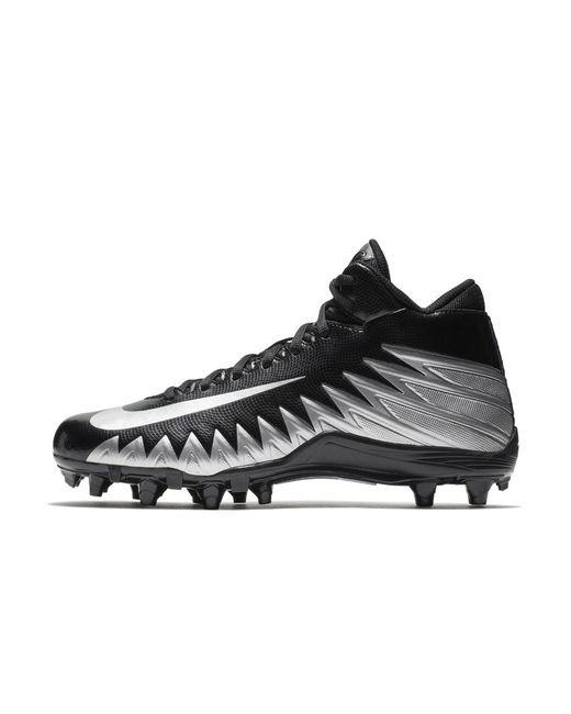 e2e3cfb29e3 Nike - Black Alpha Menace Varsity Mid Men s Football Cleat for Men - Lyst