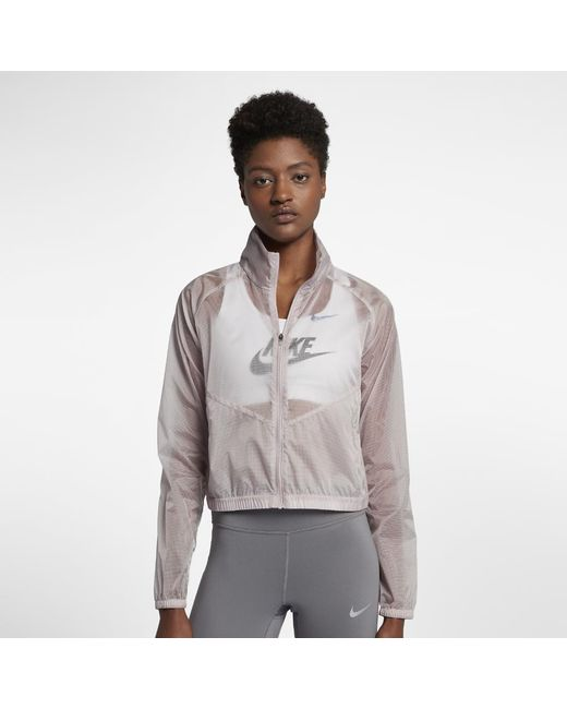 Nike - Gray Women's Packable Running Jacket - Lyst