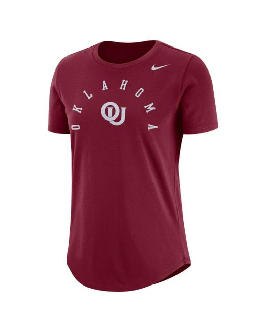 Nike Red College Elevated (oklahoma) T-shirt