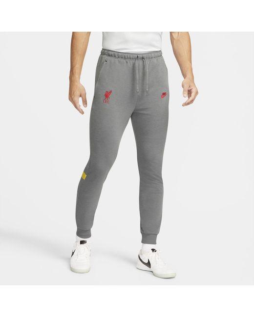Nike Gray Liverpool F.c. Dri-fit Football Pants Grey for men