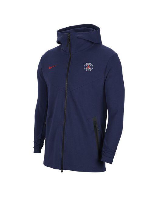 Nike Paris Saint-germain Tech Pack Full-zip Hoodie Blue for men