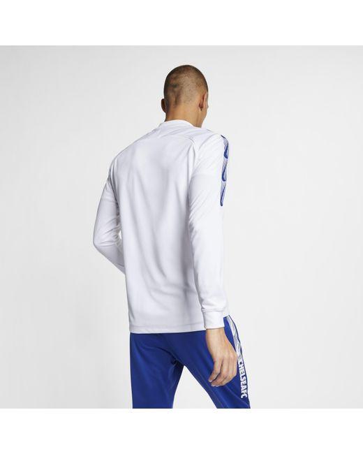 7de24edd3 ... Nike - White Chelsea Fc Dri-fit Squad Football Track Jacket for Men -  Lyst ...