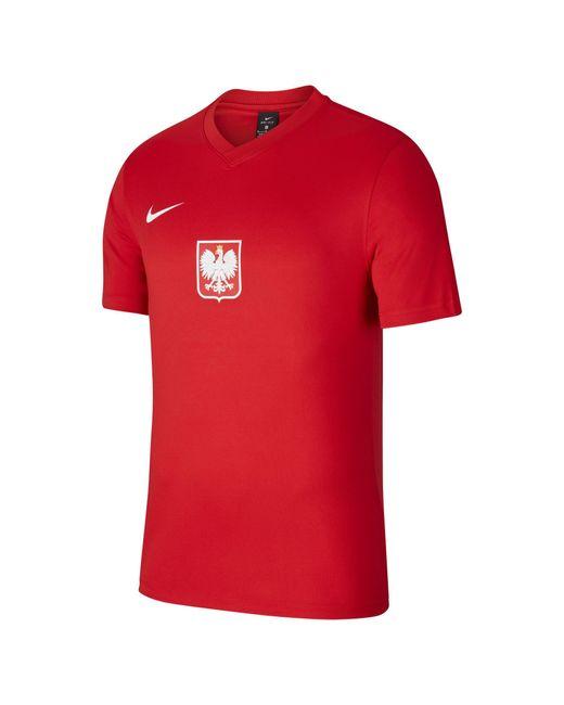 Nike Polen Home/Away Kurzarm-Fußballoberteil in Red für Herren