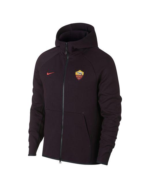 e29d69ddd57b Nike - Red A.s. Roma Tech Fleece Full-zip Hoodie for Men - Lyst ...