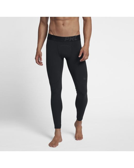 d79d93aff5de7 Lyst - Nike Pro Men's Training Tights in Black for Men