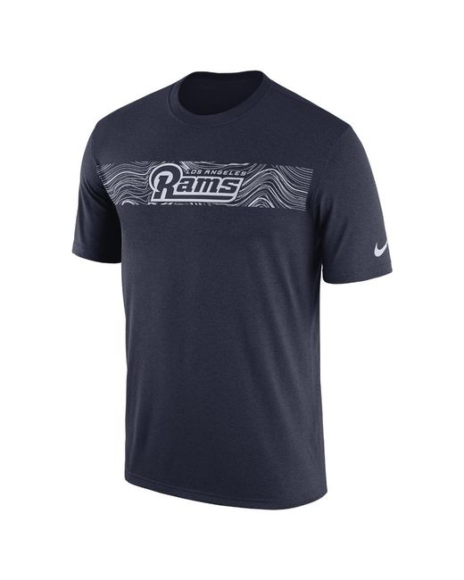 Lyst - Nike Dri-fit Legend Seismic (nfl Rams) Men s T-shirt in Blue ... 70ab4116b6e1