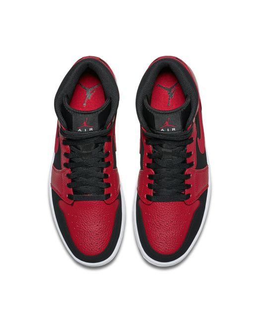 Nike Air Jordan 1 Mid Schuh in Rot für Herren Lyst