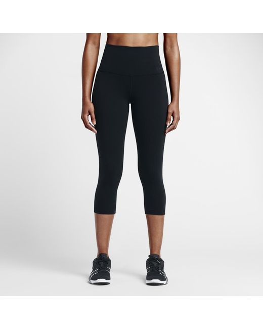 71cf387f50ef2 Nike - Black Power Legendary Women's High Rise Training Capri Pants - Lyst