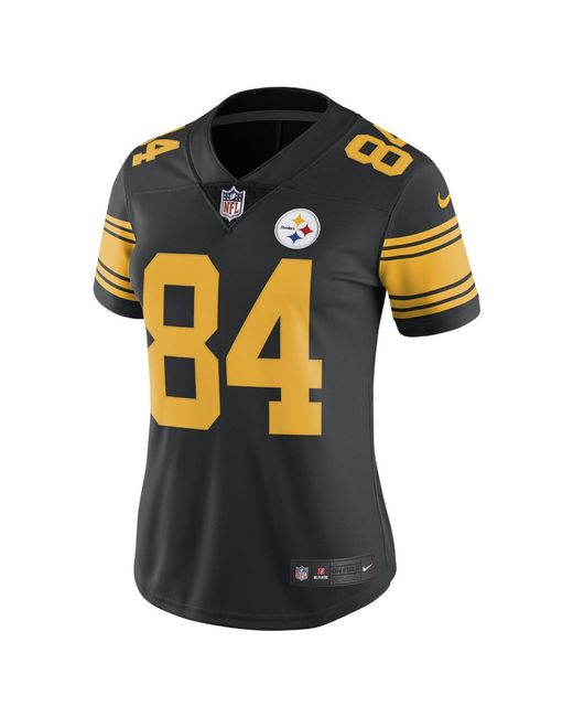 Nike - Black Nfl Pittsburgh Steelers Color Rush Limited (antonio Brown)  Women s Football Jersey f1d4e2a9a