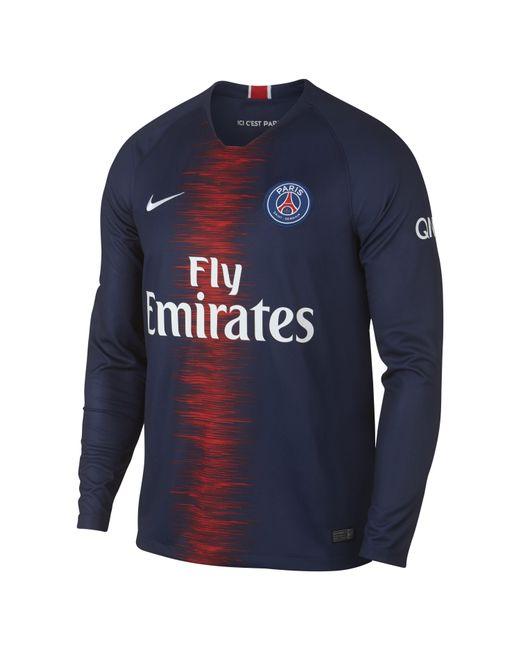 a6208783eb3a3 Nike - Blue 2018 19 Paris Saint-germain Stadium Home Long-sleeve Football  ...