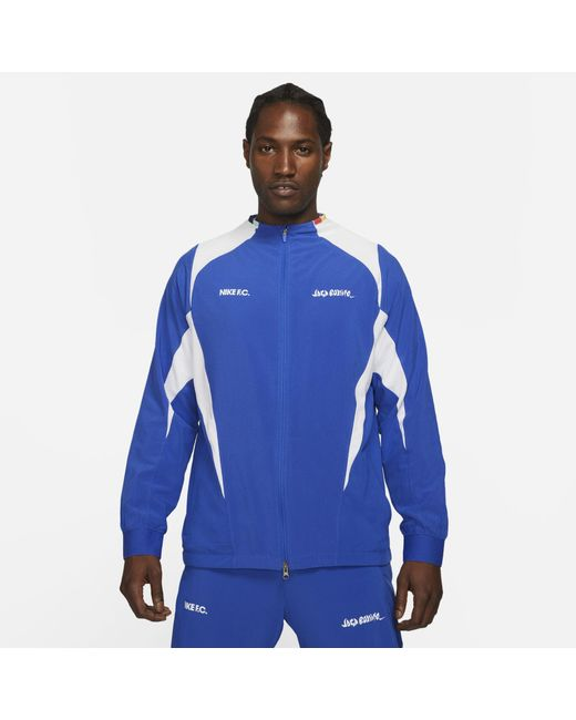 Nike Blue F.c. Woven Football Jacket for men
