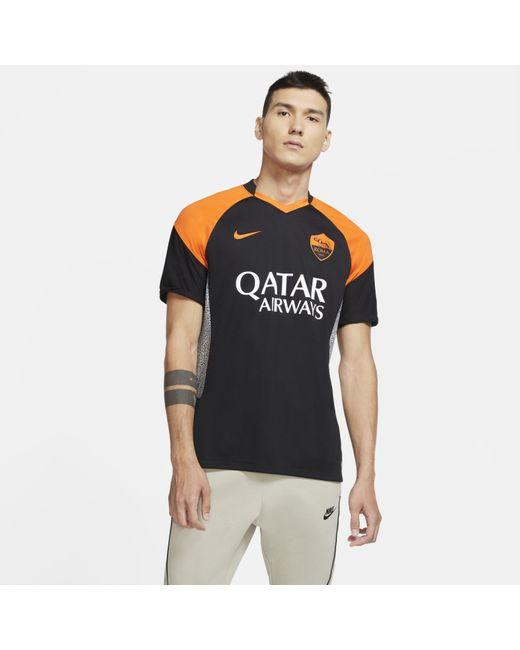 Nike Black As Roma 2020/21 Stadium Third Football Shirt for men