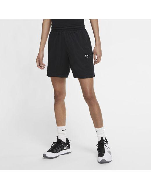 Shorts da basket Swoosh Fly di Nike in Black