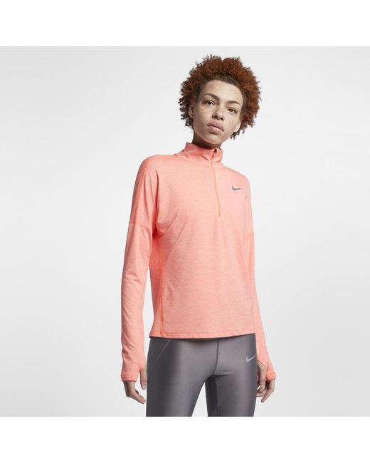 2b498a6ea2eda Nike - Multicolor Dri-fit Element Women s Long Sleeve Running Half-zip Top -
