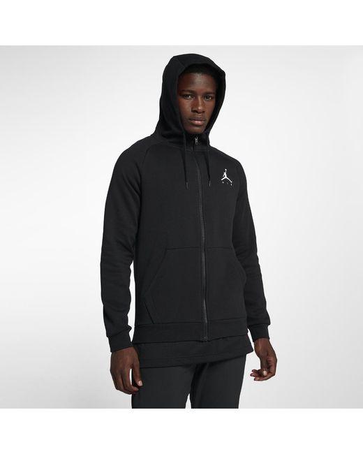 76bf0f6efb09 Nike - Black Jumpman Air Men s Fleece Full-zip Hoodie