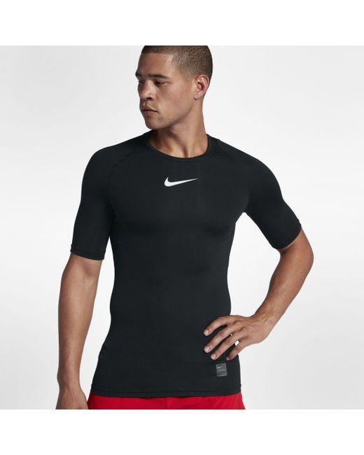 Nike Black Pro Short Sleeve Training Top for men