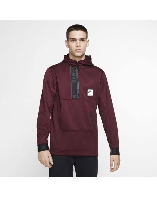 Men's Purple Sportswear Air Max 12 zip Hoodie