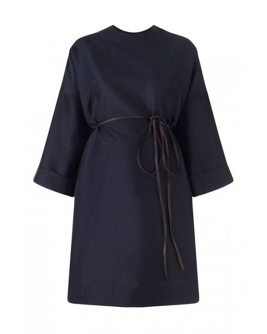 Lanvin | Blue Round Neck Dress | Lyst