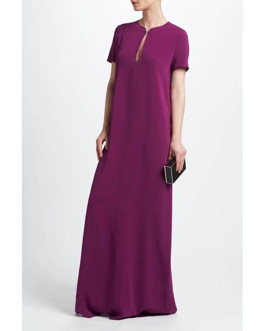 Lanvin - Purple Short Sleeve Evening Gown - Lyst