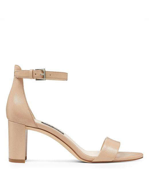 Nine West - Natural Pruce Ankle Strap Block Heel Sandals - Lyst