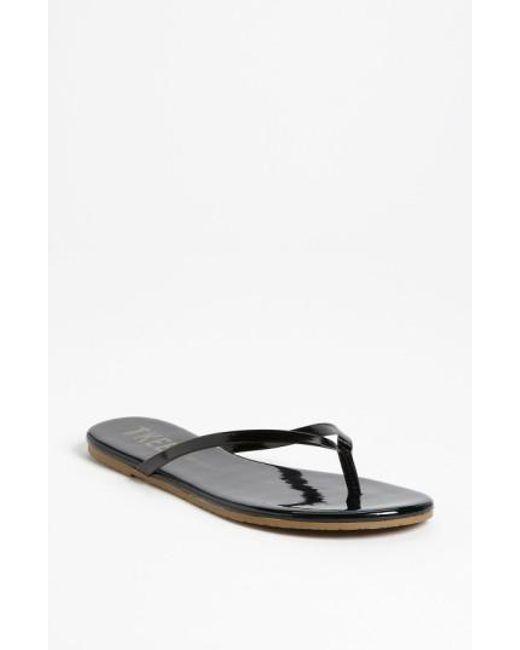 TKEES | Black 'glosses' Flip Flop | Lyst