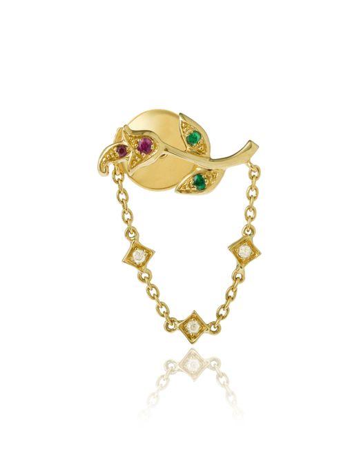 Yvonne Léon - Metallic Rose Chain Earring - Lyst