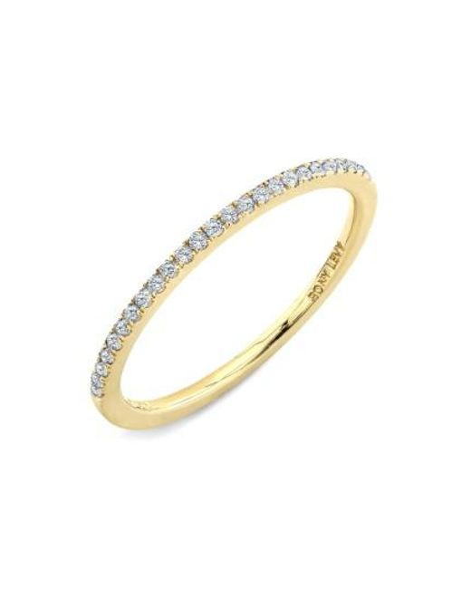Bony Levy | Yellow 'stackable' Straight Diamond Band Ring (nordstrom Exclusive) | Lyst