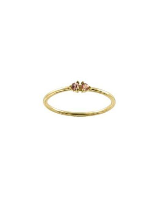 Wwake | Metallic Double Emerald Ring (nordstrom Exclusive) | Lyst