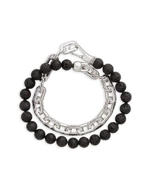 John Hardy - Metallic Classic Chain Double Wrap Bracelet for Men - Lyst
